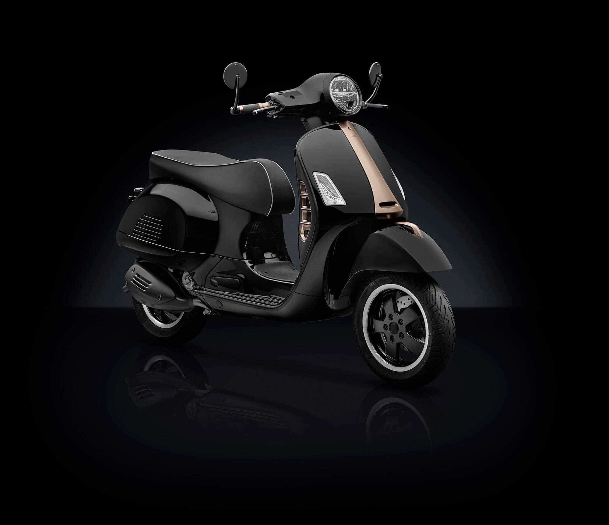 Vespa Nera Automotive Shot by Rizoma