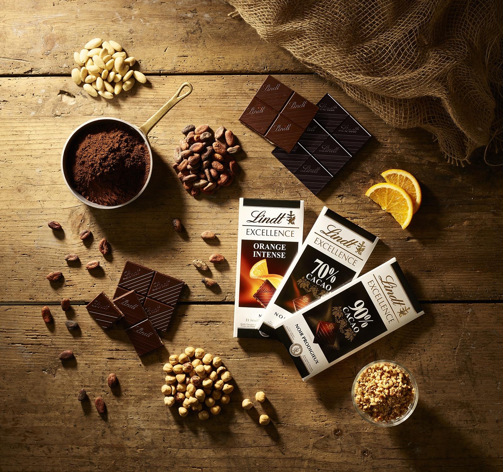 Lindt Cioccolato Tavolette Excellence Cacao Orange Nocciole Food Shot by Fotografando