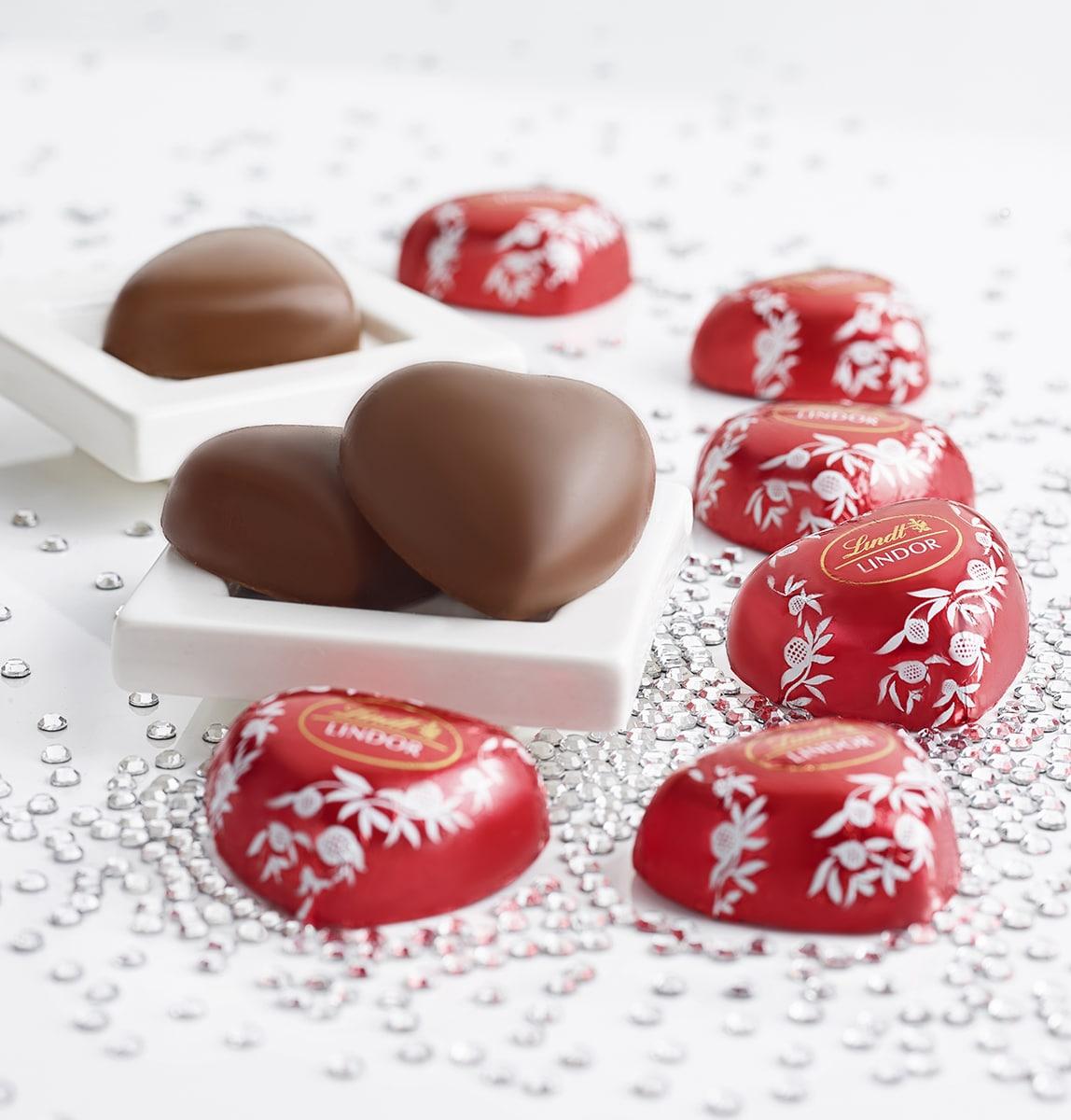 Lindt Lindor Cioccolato Latte Cuore Rosso Food Shot by Fotografando