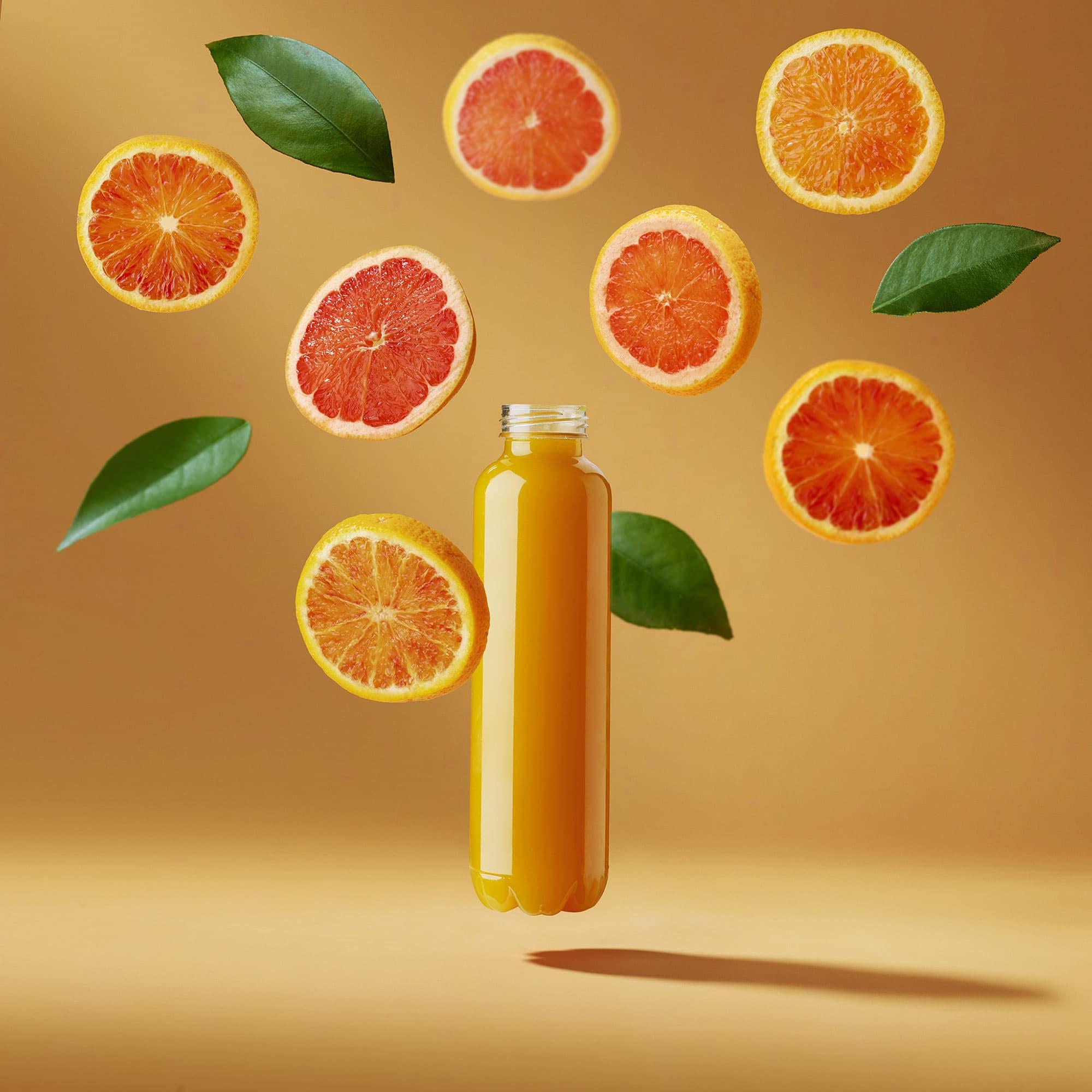 Orange Oranges Bottle Still Life Shot for Corepla by Fotografando