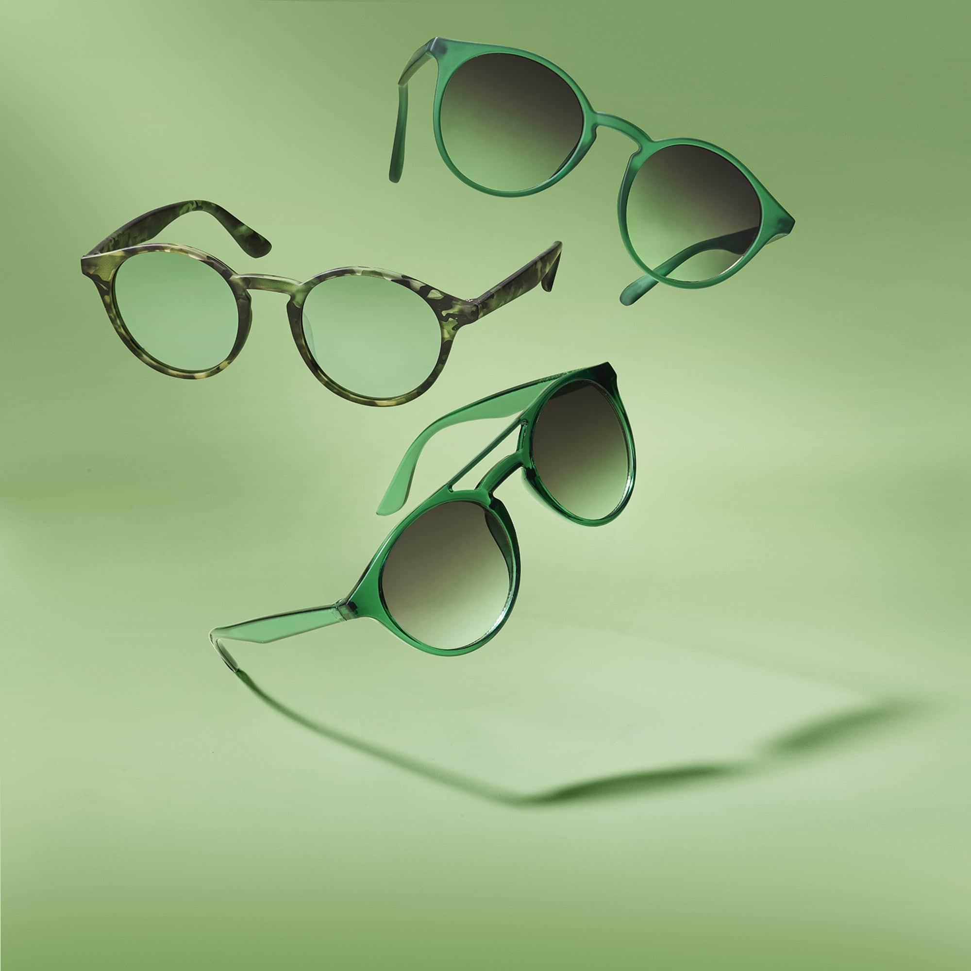 Green Sunglasses Still Life Shot for Corepla by Fotografando