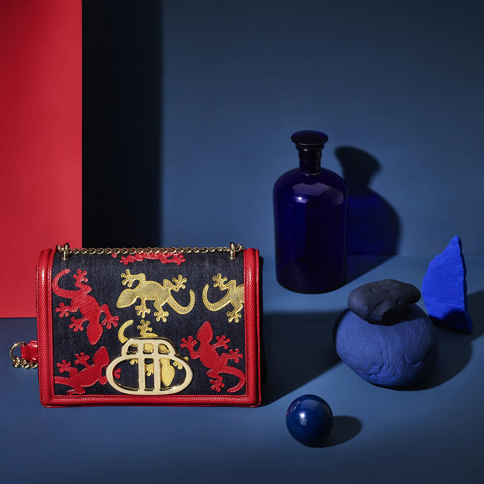 Geko Bag Red Blue Still Life Shot for Barchi by Fotografando
