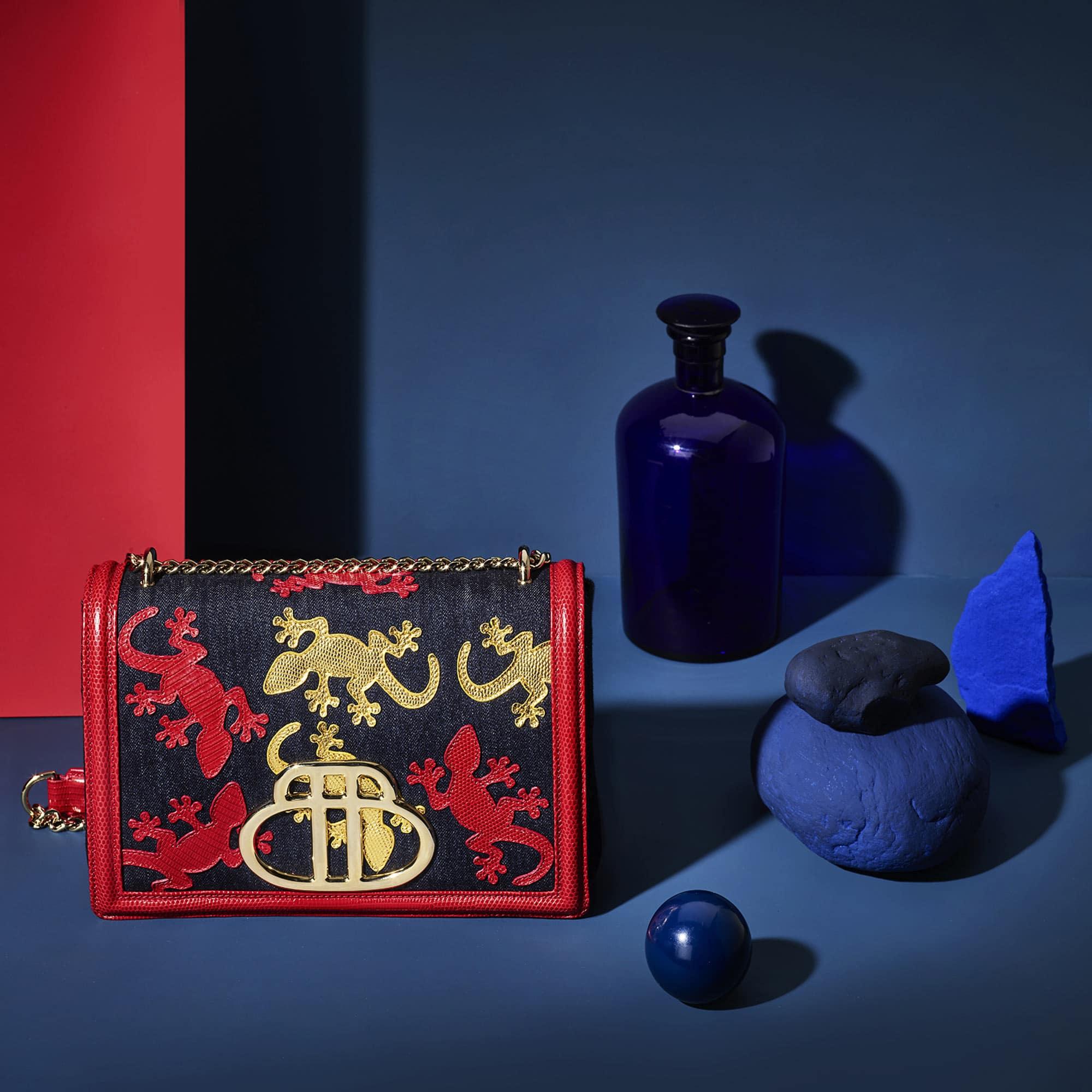 Geko Bag Red Blue Still Life Shot for Barchi by Fotografando