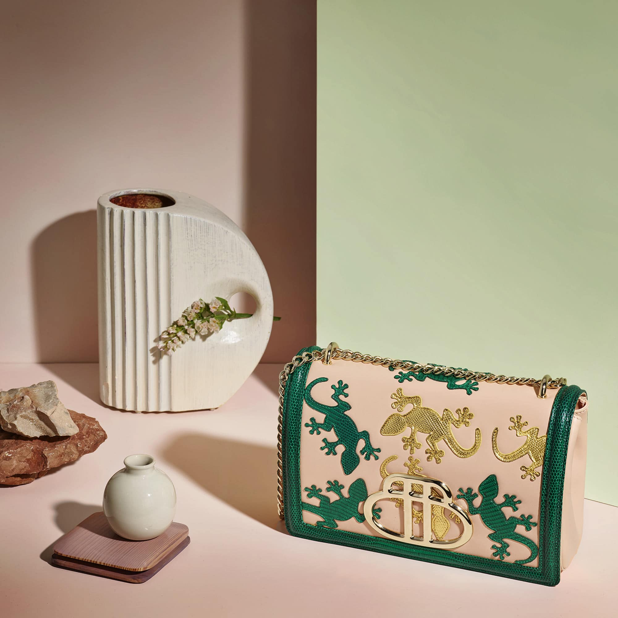 Geko Bag Pink Green Still Life Shot for Barchi by Fotografando