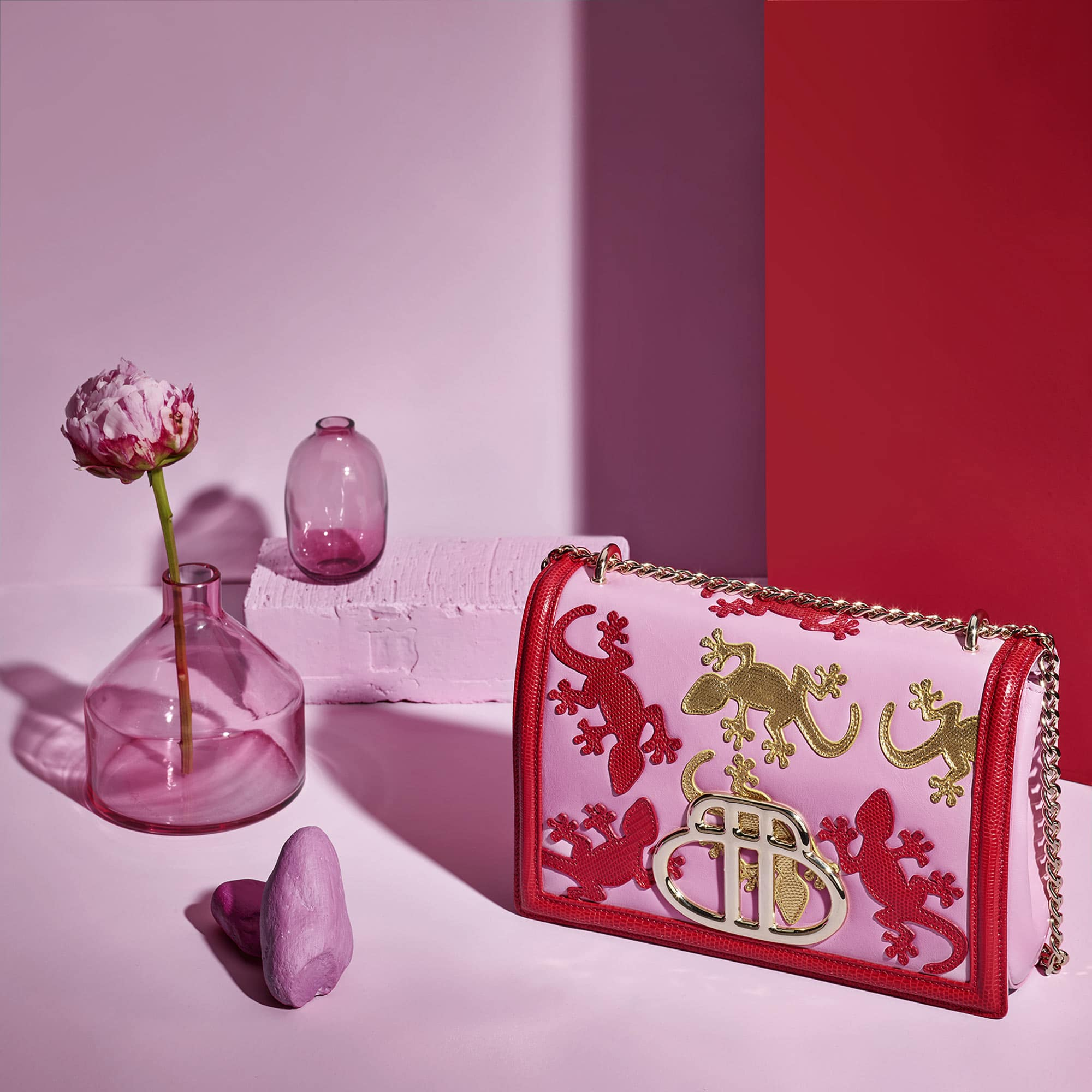 Geko Bag Red Pink Still Life Shot for Barchi by Fotografando