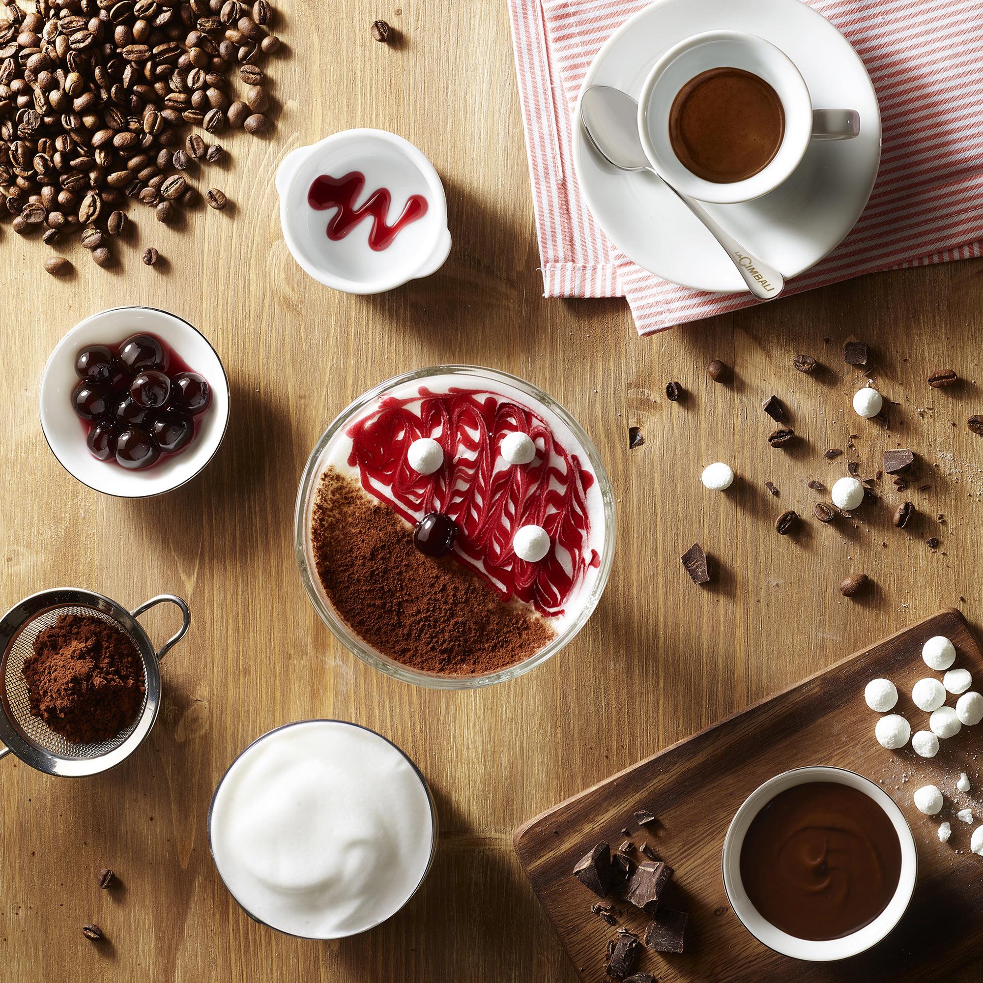 Cimbali Tazza Caffè Cioccolato Meringhe Cacao Amarena Food Shot by Fotografando