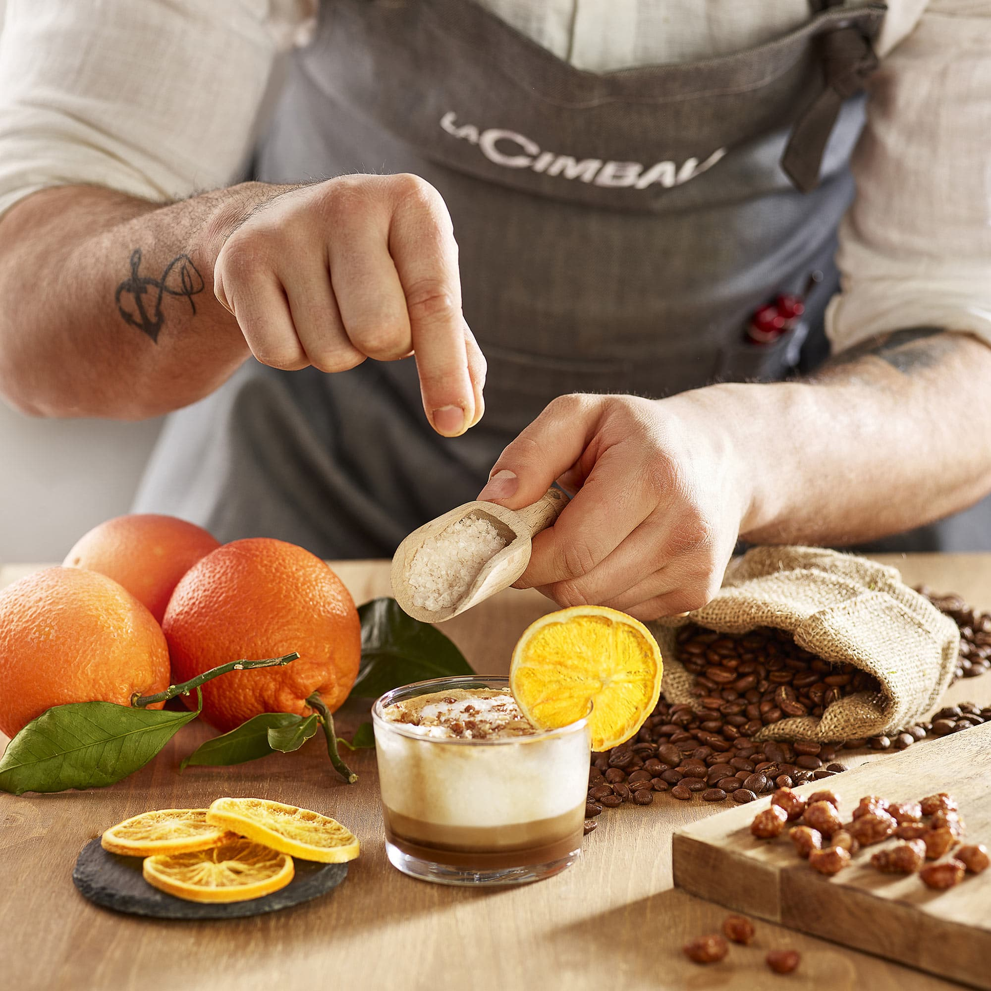 Cimbali Bicchiere Arancia Chef Cuoco Food Shot by Fotografando